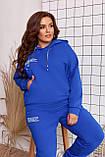 Качественный спортивный костюм женский Турецкая двунитка пинье Размер 50 52 54 56 58 60 Разные цвета, фото 6