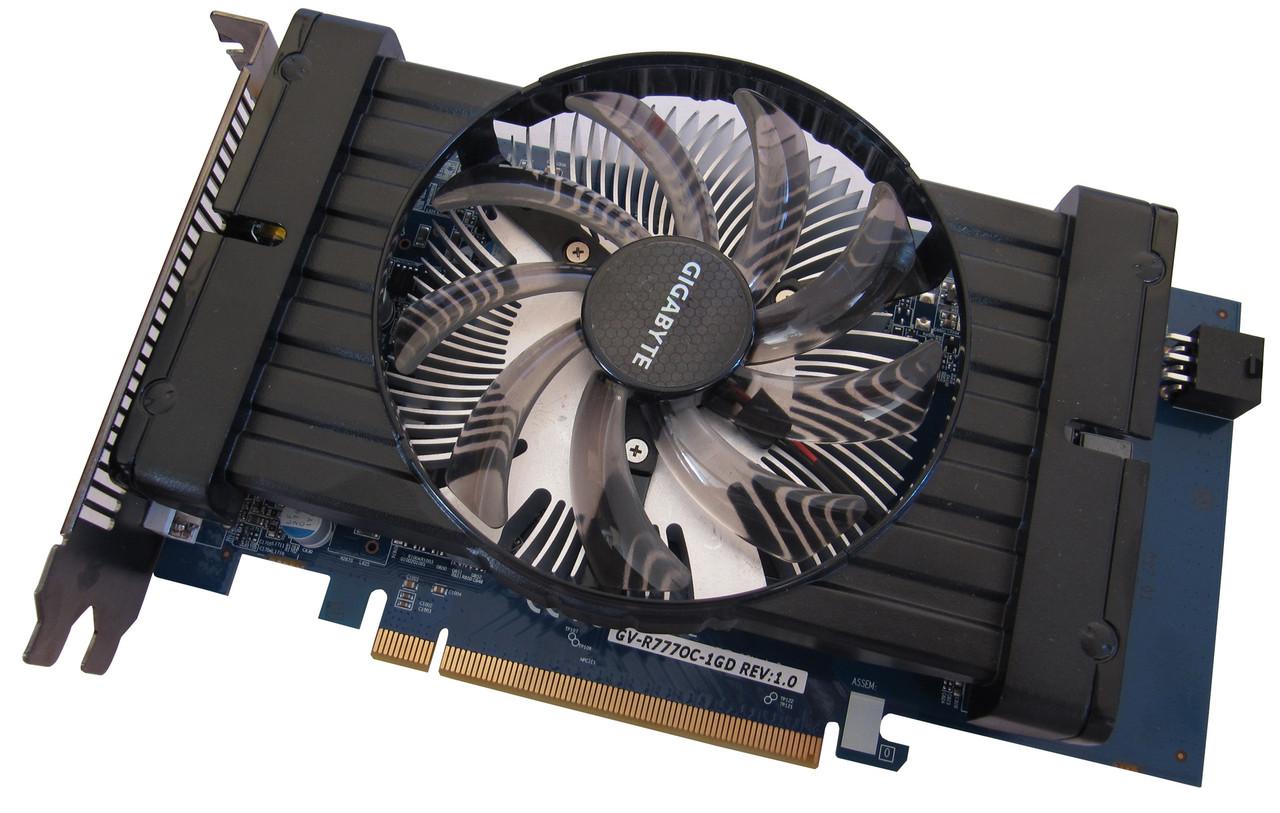 МОЩНАЯ ВИДЕОКАРТА Pci-E RADEON HD7770 на 1GB DDR5 c HDMI и ГАРАНТИЕЙ ( видеоадаптер HD 7770 1 GB )