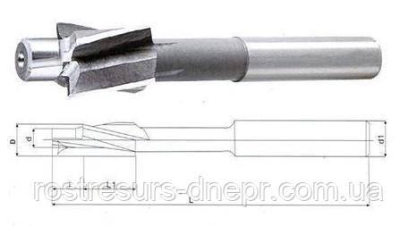 Цековка ц/х ф 6 мм з цапфой 3.4 мм хв.8.2 мм Lобщ60 мм (цапфа не знімна)