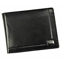 Чоловіче шкіряне портмоне з евромонетницей чорне Rovicky CPR-022 Black, фото 1