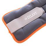 Утяжелители-манжеты для рук и ног Zelart FI-5733-4 (2x2кг), цвета в ассортименте, фото 3