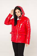 Женская демисезонная куртка (красный), фото 1