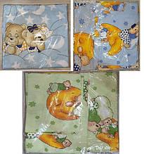 Комплект пастельный детский 3 предмета бязь 3 ,цвета   арт 291.