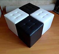 Пуфик для спальни с декоративной строчкой, фото 1