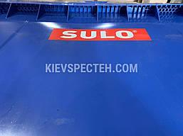 Євроконтейнер пластиковий зі сферичною кришкою, V-1100 л,синій, фото 2