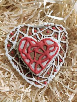 Имбирные пряники в виде сердца