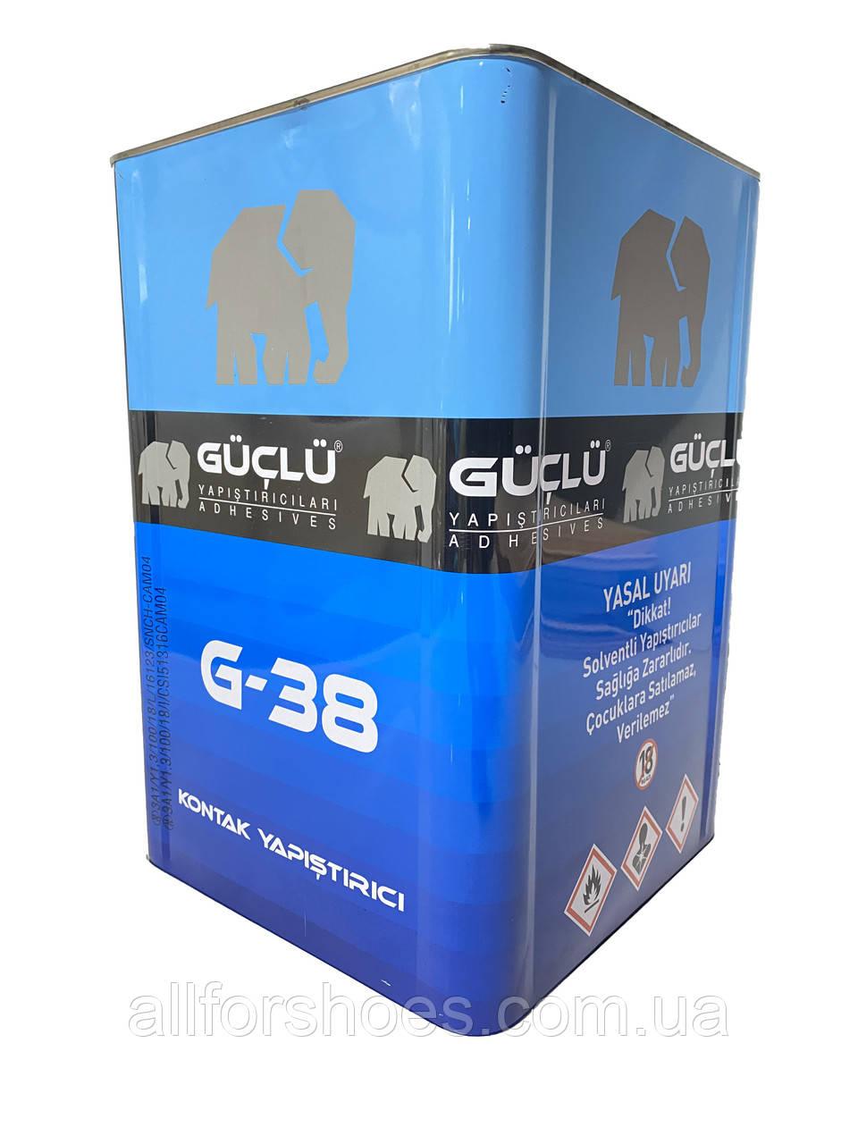 Guclu G38 полихлоропреновый клей, для кожи и кожзама, дерева, пробковых изделий и каучука