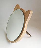Зеркало для макияжа Cosmetic Mirror R-1026, деревянное в ассортименте, 15*16 см