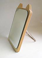 Зеркало для макияжа Cosmetic Mirror R-1028, деревянное в ассортименте