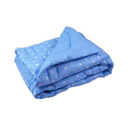 Одеяло шерстяное Руно Blue зимнее 200х220 евро, фото 2
