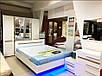 Шкаф 4Д Бьянко Світ Меблів (Белый глянец), фото 5