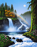 Картина по номерам 40×50 см. Водопад