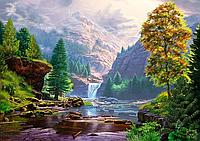 Картина по номерам 40×50 см. Горная река