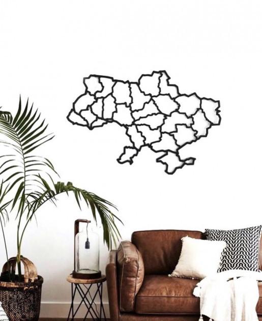 Декор для стен Панно из дерева Карта Украины 50х80 см