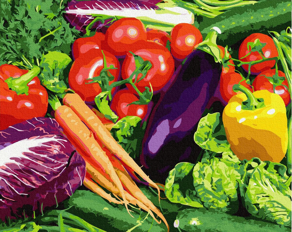 Картина по номерам Овощи