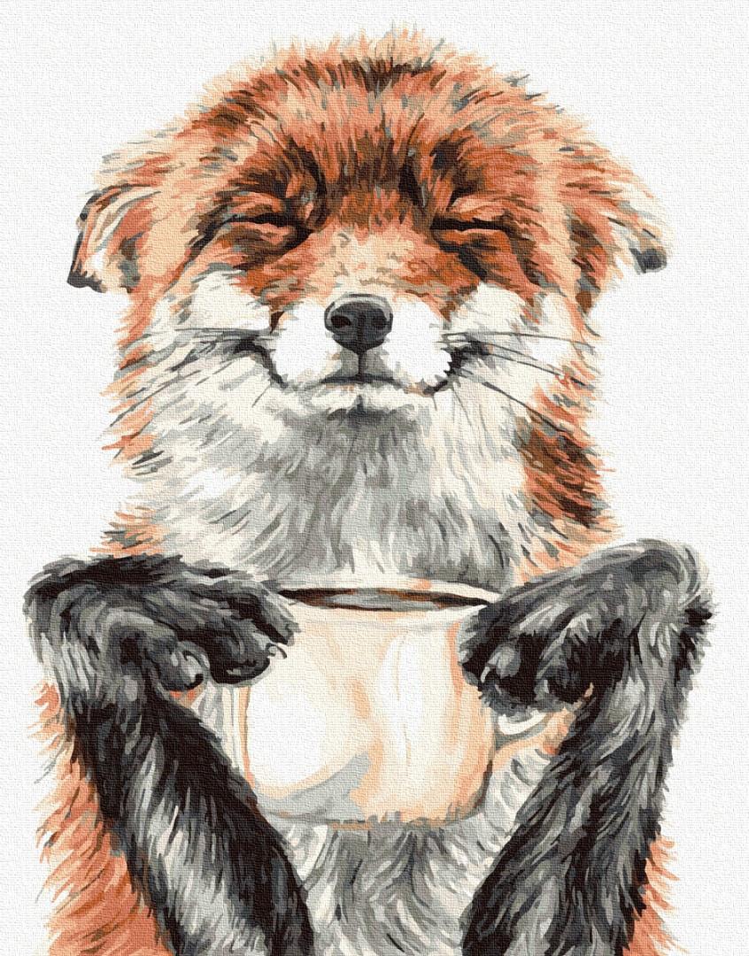 Картина по номерам Задоволена лисичка