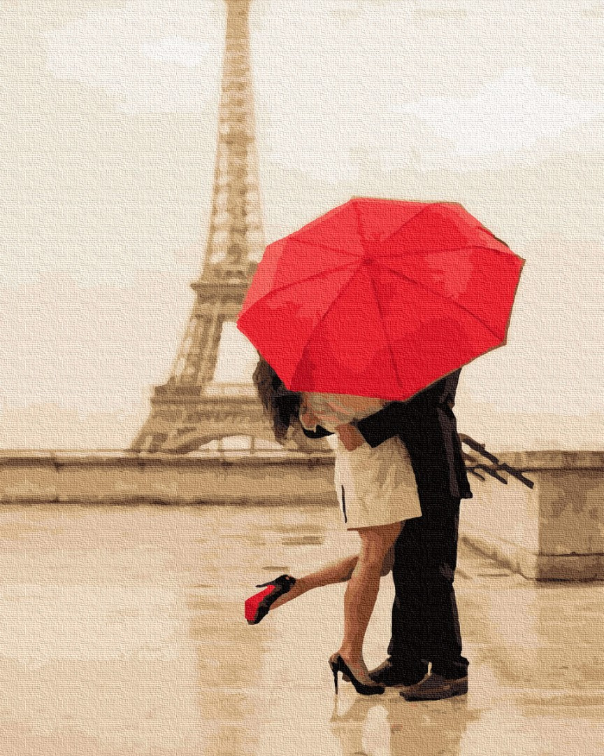 Картина по номерам Свидание под дождем