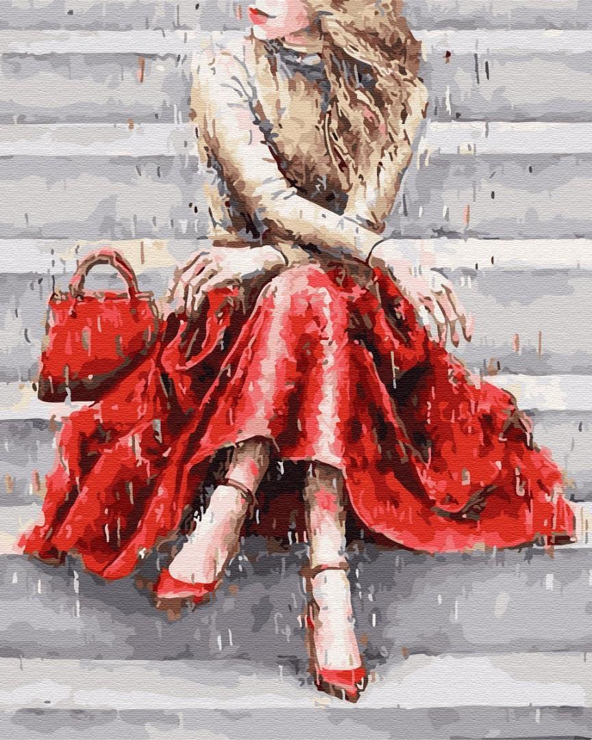 Картина по номерам Цвет настроения: красный