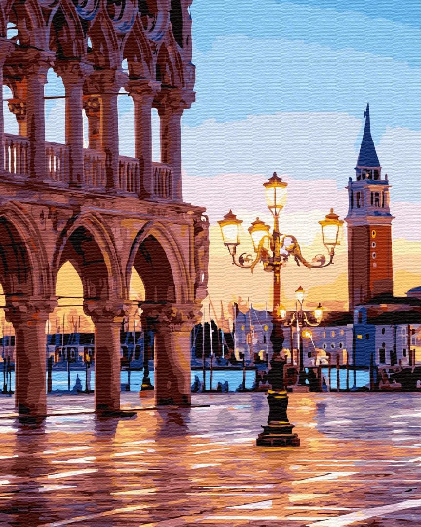 Картина по номерам Вечерняя площадь Венеции