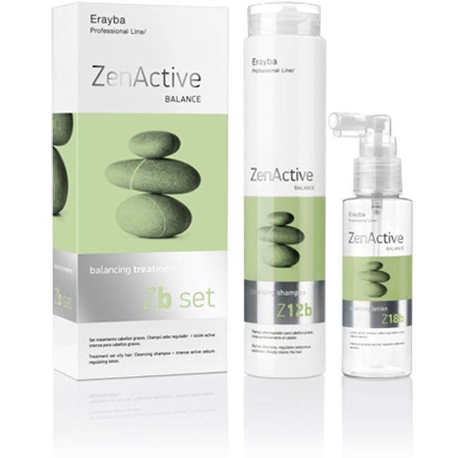 Набір проти жирного волосся шампунь 250 мл + лосьйон 100 мл Erayba Zen Active Zb set