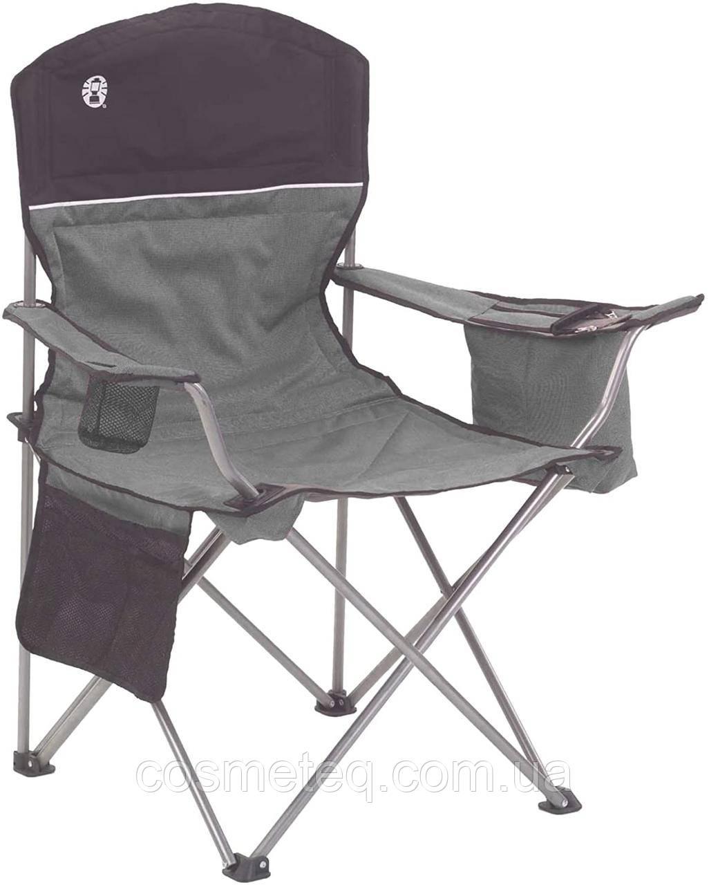 Складное кресло для охоты рыбалки туризма Coleman c карманом под 4 банки пива