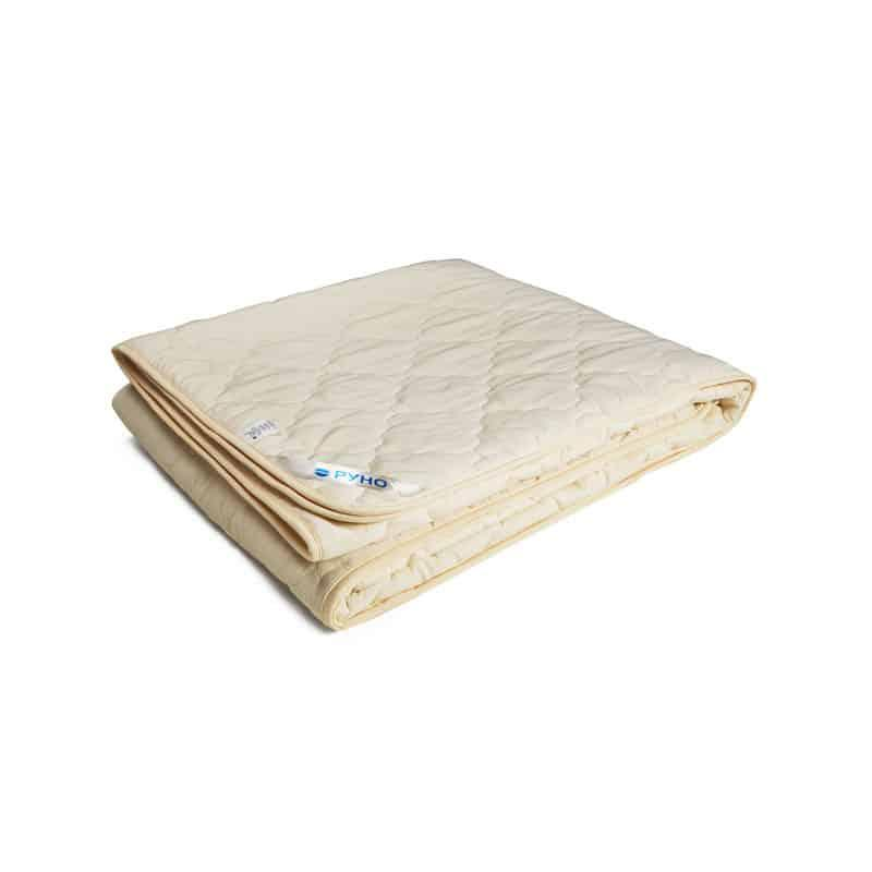 Одеяло шерстяное Руно молочное летнее 172х205 двуспальное