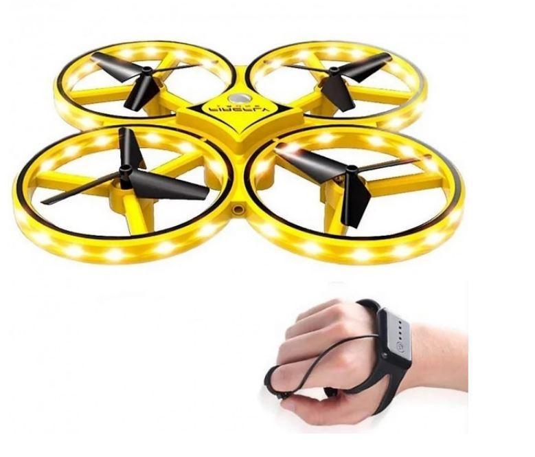 "Квадрокоптер ""Управляй рукой и жестами""  DRONE TraceKer 999 Pro Желтый"