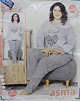 Пижама женская, турецкая, полубатал  Размеры: l-xl-xxl-3xl-4xl, 5шт в ростовке расцветки, фото 1