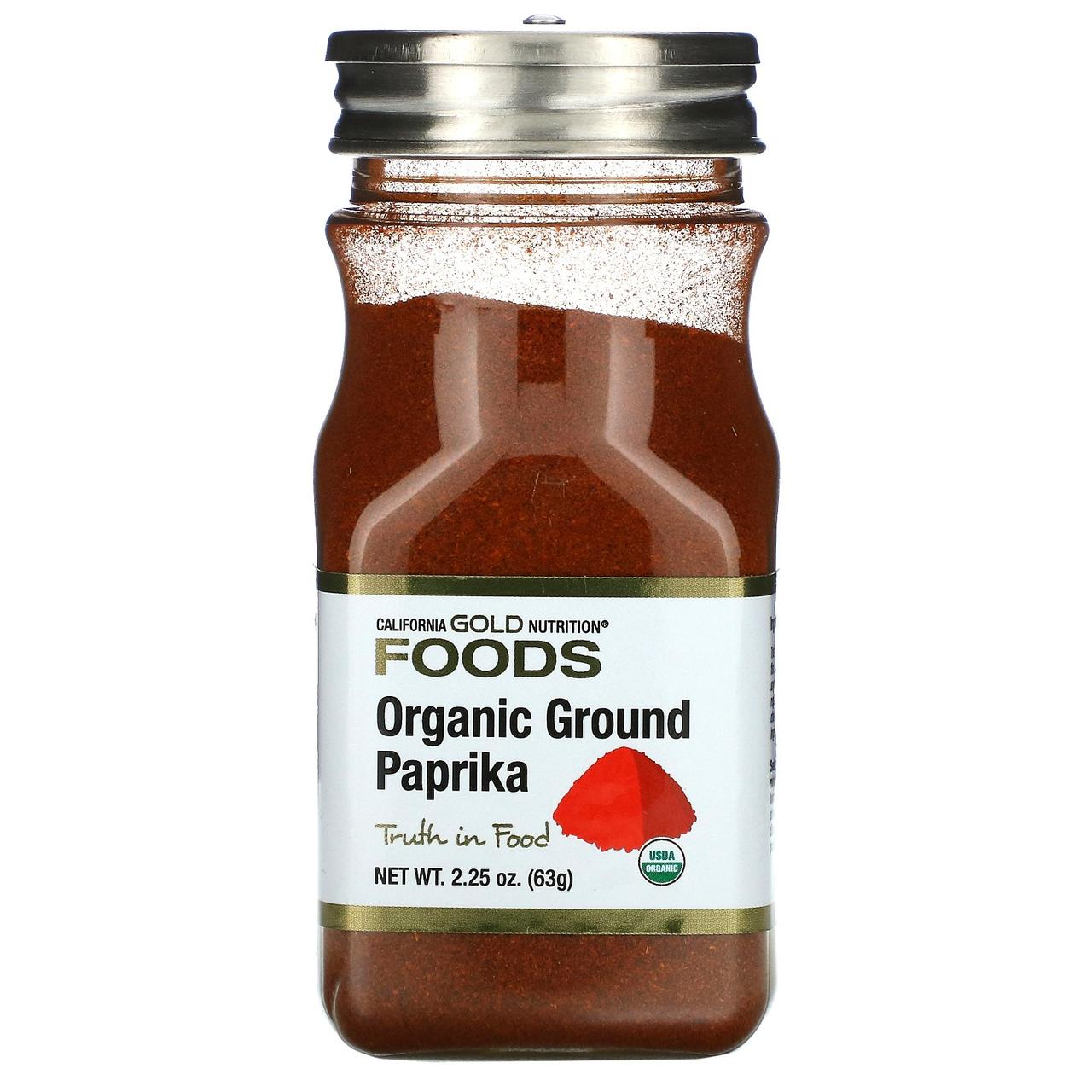 Органическая молотая паприка, 63 г California Gold Nutrition