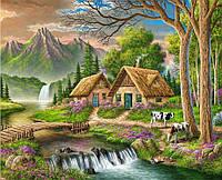 Картина по номерам 40×50 см. Альпийская деревня
