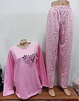 Пижама женская, турецкая, полуботал  Размеры: l-xl-xxl-3xl-4xl, 5шт в ростовке расцветки, фото 1