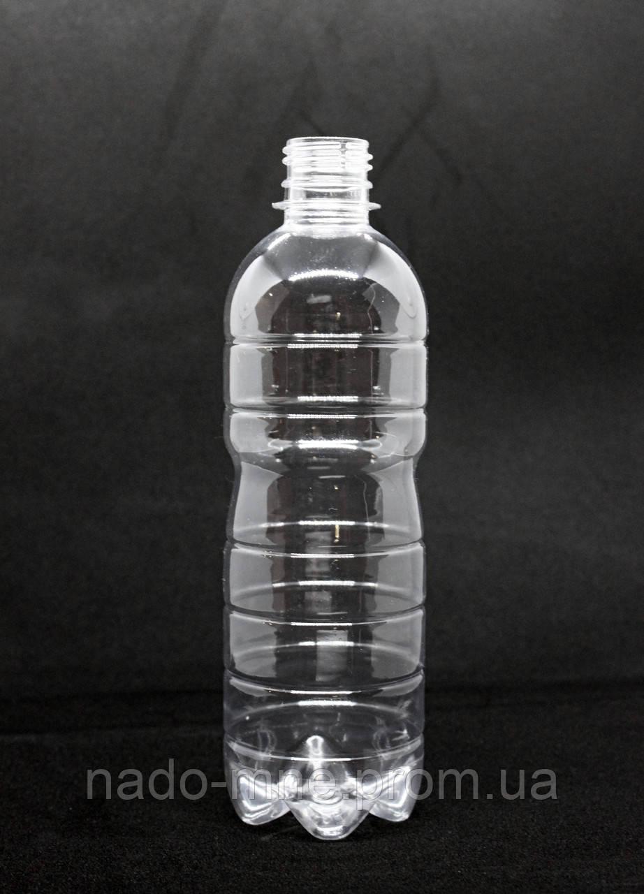 Пэт бутылка 500 мл. с узким горлом (28 мм), прозрачная, 160 шт./уп.