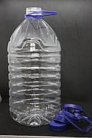 Пэт бутылка 5 л. с широким горлом (48 мм), прозрачная, 35 шт./уп., фото 1