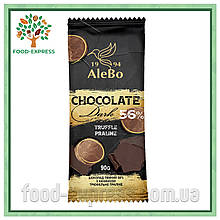 Шоколад темний 56% з начинкою трюфельне праліне, 90г
