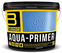 Концентрированная акриловая грунтовка глубокого проникновения Brodeco Aqua-primer 1 л.