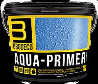 Концентрированная акриловая грунтовка глубокого проникновения Brodeco Aqua-primer 5 л.