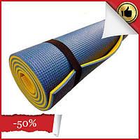 Гимнастический коврик. Каремат 180х60х0,9см Фитнес коврик для йоги, коврик туристический