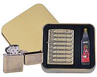 Зажигалка бензиновая в подарочной коробке Бомбы