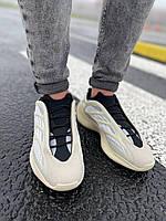 Кроссовки мужские женские подростковые Adidas Yeezy Boost 700 V3 Beige White Адидас Изи Буст Бежевый Белый