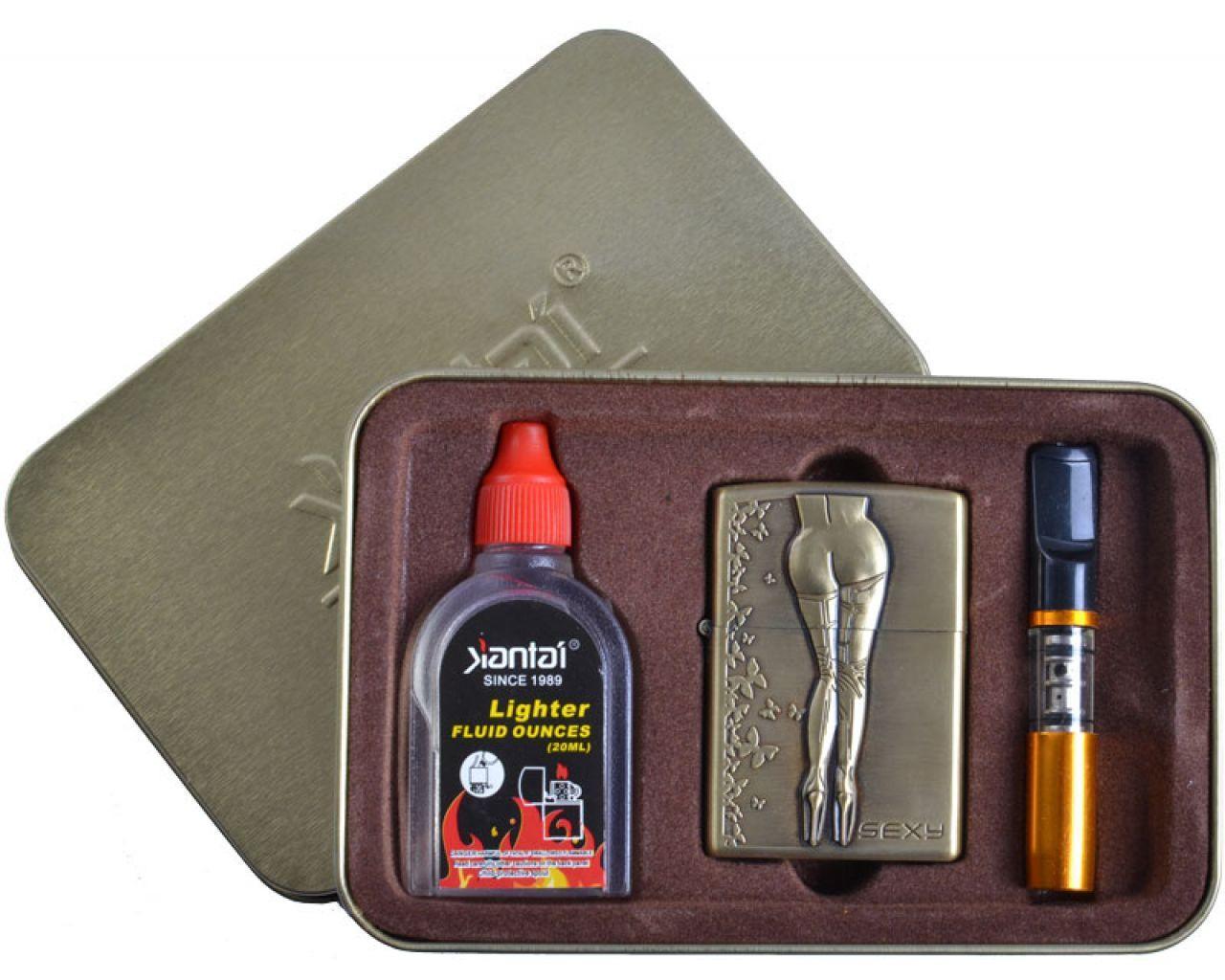 Зажигалка бензиновая в подарочной упаковке SEXY