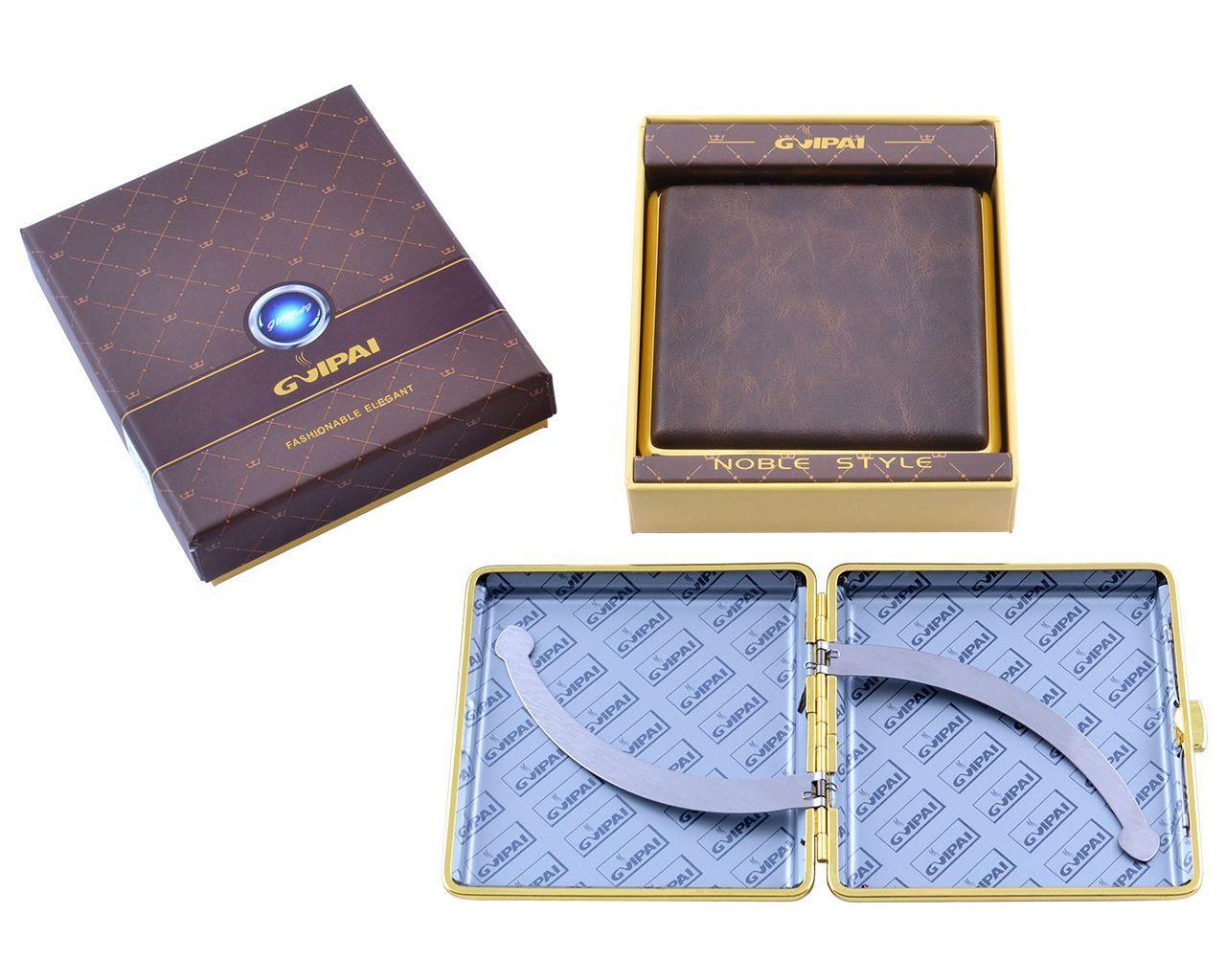 Портсигар в подарочной упаковке GVIPAI (Кожа,на 20 шт)