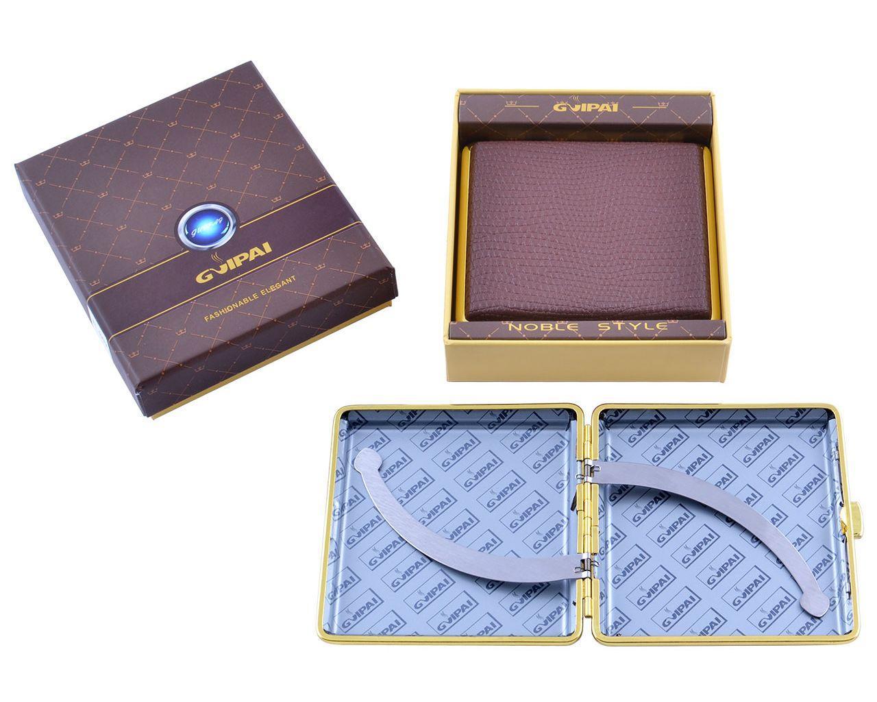 Портсигар в подарочной упаковке GVIPAI (Кожа, на 20 шт)