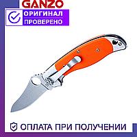 Туристический складной нож Ganzo с лезвием из нержавеющей стали G7372-OR оранжевый