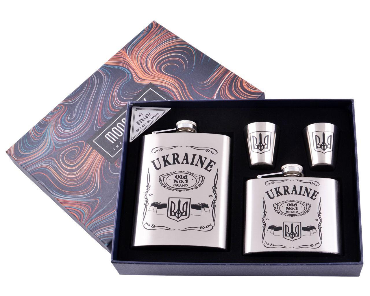 """Подарочный набор с флягами и стопками """"UKRAINE"""""""