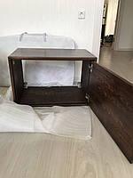 Навесная тумба под умывальник  из массива Лиственницы Сибирской в ванную, фото 1