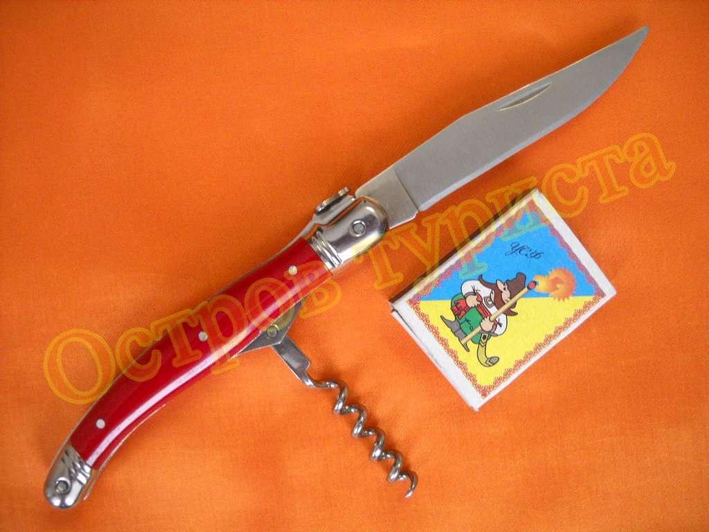 Нож складной A FLY Red со штопором