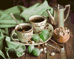 Картина по номерам 40*50 см  Мятное чаепитие