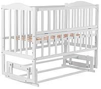 Кровать Babyroom Зайчонок ZL201 маятник, откидной бок  белая, фото 1