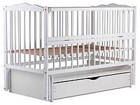 Кровать Babyroom Веселка маятник, ящик, откидной бок DVMYO-3  бук белый, фото 1