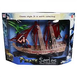 Детский игровой Корабль пиратов с фигурками Keyly Toys. Пиратский корабль со звуком и светом для детей 3 лет